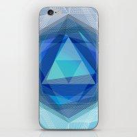Jewel Lines - Sapphire &… iPhone & iPod Skin