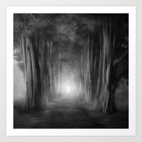 Black And White - Dreams… Art Print