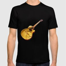 The guitar is a lady Mens Fitted Tee Black SMALL