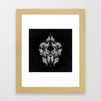 Alien Tribal Tattoo - Wh… Framed Art Print