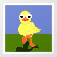 Whacky Bird Art Print