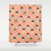 Corgi Love Shower Curtain