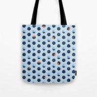 Blue Cubes Tote Bag
