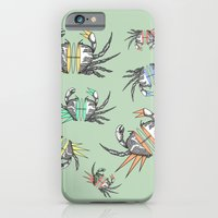 iPhone Cases featuring grab my crabs by AmDuf