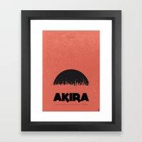 Akira (1988) - minimal poster Framed Art Print
