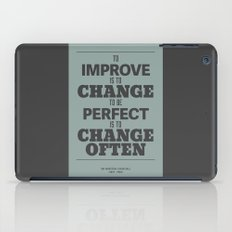 'To improve is to change, to be perfect is to change often'  iPad Case