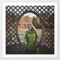 The Girl in the Green Peacoat Art Print