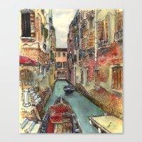 Autumn in Venice Canvas Print