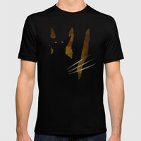 SuperHeroes Shadows : Wolverine Mens Fitted Tee Black SMALL