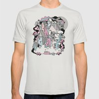 Head In The Clouds. Mens Fitted Tee Silver SMALL