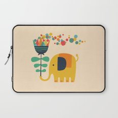 Elephant with giant flower Laptop Sleeve