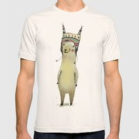 Llama Mens Fitted Tee Natural SMALL