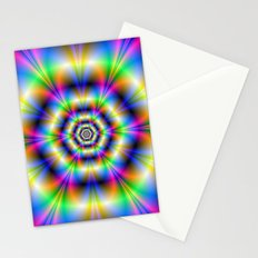 Neon Hexagons Stationery Cards