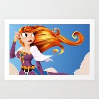 Sky Princess Art Print