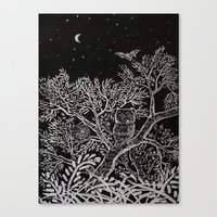 The night Canvas Print