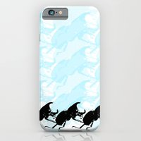 iPhone & iPod Case featuring 3 Scarabs Blue by Patricia Blanco