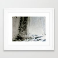 Water and Smoke Framed Art Print