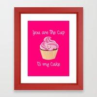 My cupcake - Pink version Framed Art Print