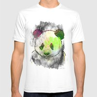 Marshmallow Panda Syndro… Mens Fitted Tee White SMALL