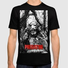 Predator (Black and White version) Mens Fitted Tee Black SMALL