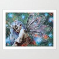 Dragonfly lady Art Print