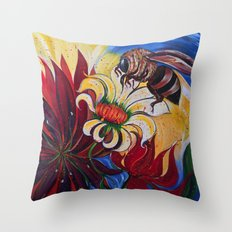 Bee's Rejoice Throw Pillow