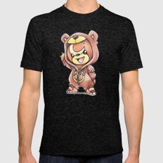 Bear-ly Noticeable Mens Fitted Tee Tri-Black SMALL