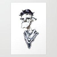Frankenstein Hipster Art Print