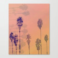 Santa Monica Palms Canvas Print