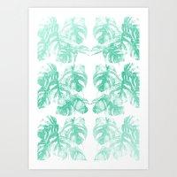 Monstera Tropical Jungle  Art Print