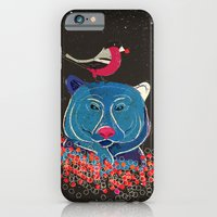 Bullfinch and bear iPhone 6 Slim Case
