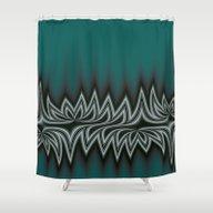 Fractal Tribal Art In Pa… Shower Curtain