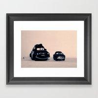Miniature Cars Framed Art Print
