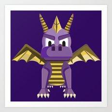 Spyro vector character fanart Art Print