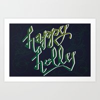 Happy Holly Art Print