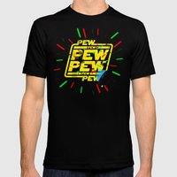 PEW PEW PEW Lasers Mens Fitted Tee Black SMALL