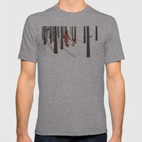 we're not out of the woods yet... Mens Fitted Tee Athletic Grey SMALL