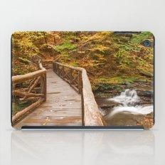 Autumn Boardwalk Bridge iPad Case