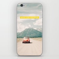 NEVER STOP EXPLORING V - vintage volkswagen bug iPhone & iPod Skin