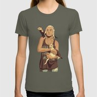 GAME OF THRONES 80/90s E… Womens Fitted Tee Lieutenant SMALL
