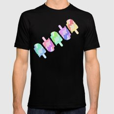 Ice Cream Melt Mens Fitted Tee Black SMALL