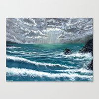 Sunbeam Seascape Canvas Print