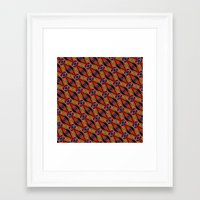 DIAGONAL SNAKILIM Framed Art Print