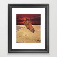 equestrian dawn Framed Art Print