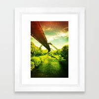 Green W. Framed Art Print