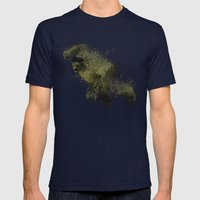 The Angry man Mens Fitted Tee Navy SMALL