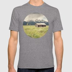 Summer in the Tetons Mens Fitted Tee Tri-Grey SMALL