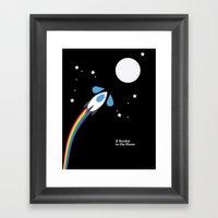 A Rocket to the Moon Framed Art Print