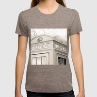 London Telephone Booth Womens Fitted Tee Tri-Coffee SMALL