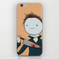 Adventure Time with Michael Myers iPhone & iPod Skin